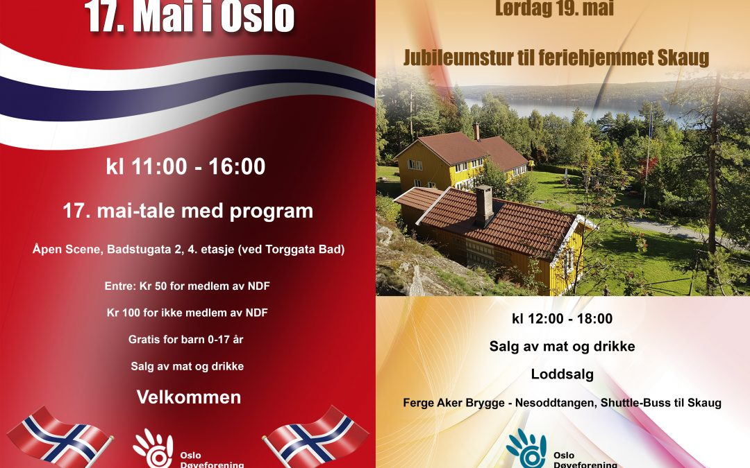 Program for 17. mai-feiring i Oslo