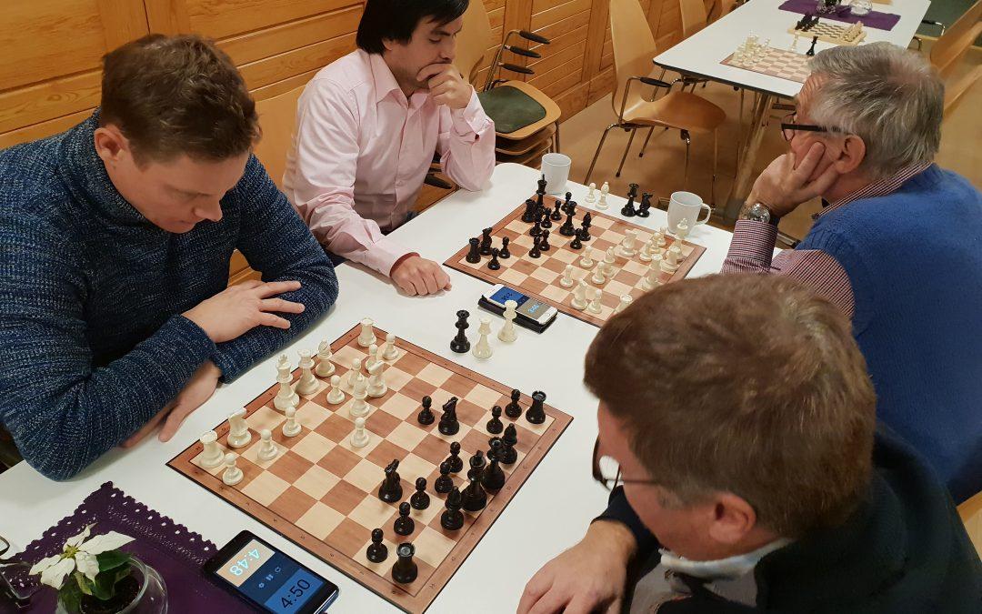 Sjakk-treff tirsdag 15. januar kl. 17 – 20