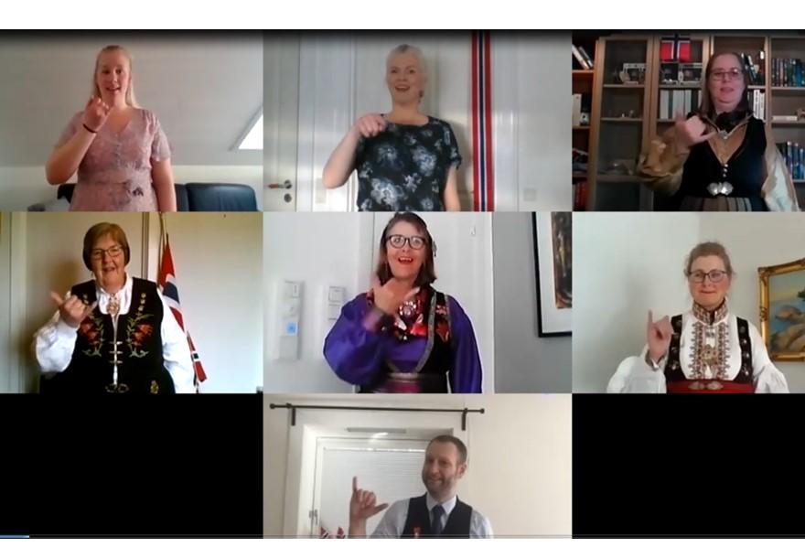 Nasjonalsang på norsk tegnspråk ved Oslo Sign Sing