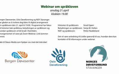 Webinar om språkloven onsdag 21. april kl. 19.00