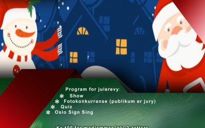 Julerevy lørdag 11. desember 2021 kl. 16 – 22